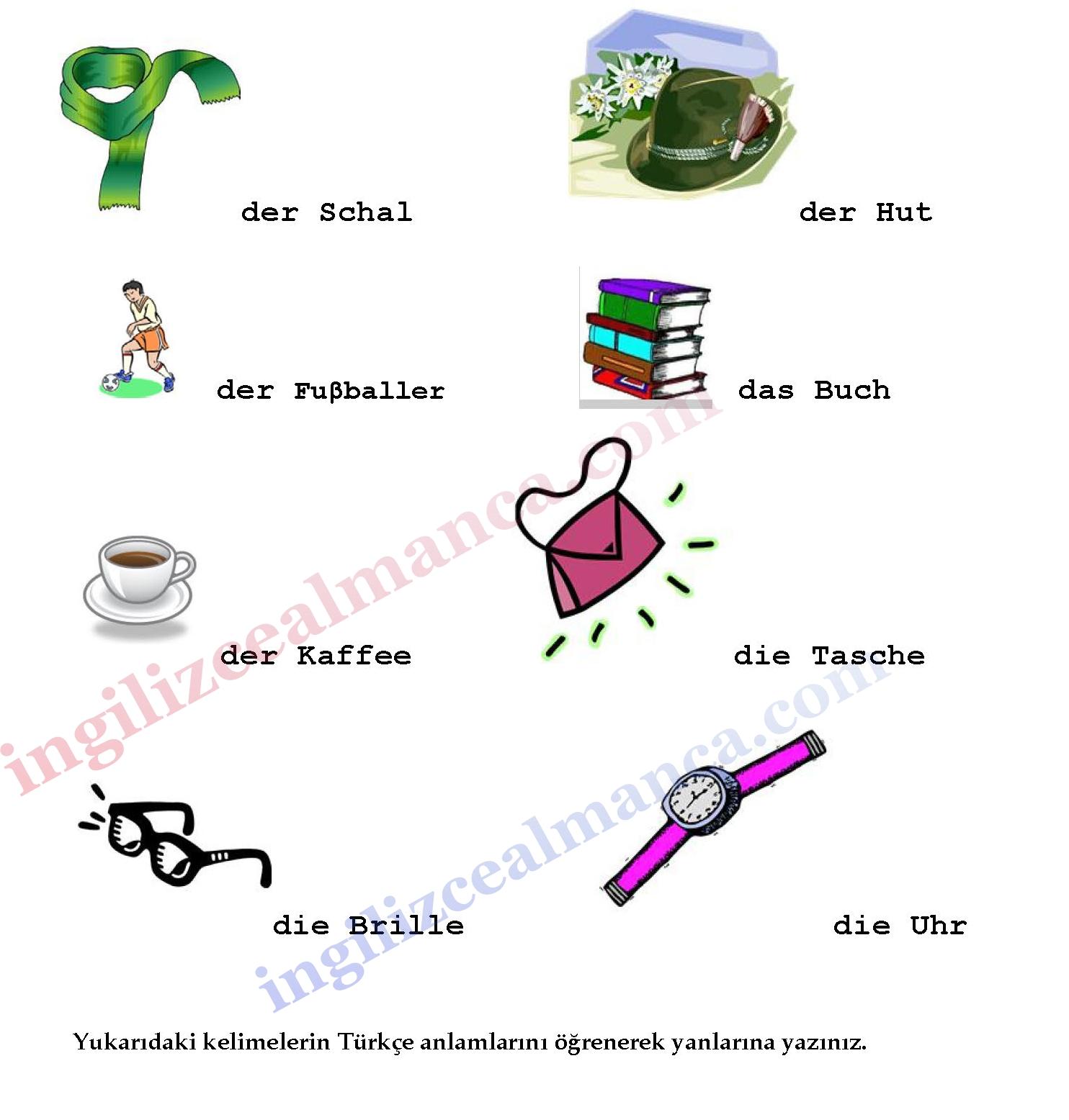 Almanca Kelimeler Resimli Ingilizce Dersleri Almanca Dersleri