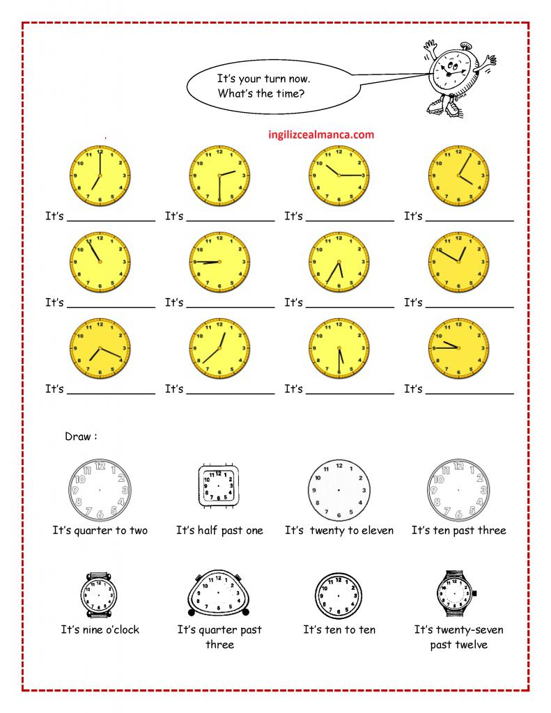 ingilizce-saatler-konu-anlatimi