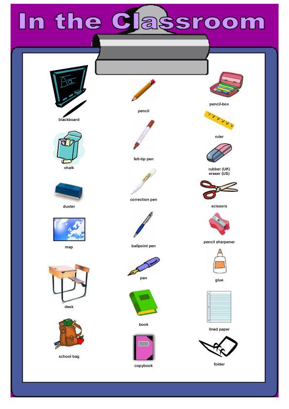 ingilizce-okul-esyalari